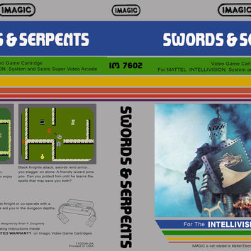 Swords & Serpents Intellivision Complete