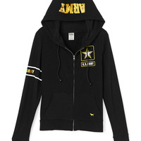 Army Perfect Full-Zip Hoodie - PINK - Victoria's Secret