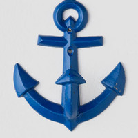 Navy Blue Anchor Wall Hook
