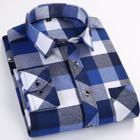 Casual Thick Cotton Long Sleeve Flannel Shirt