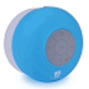 Life N Soul IE101 Bluetooth Wireless Rechargeable Water Proof Shower Speaker w/Suction Cup (Blue)