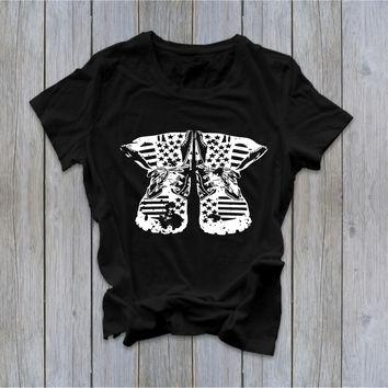 Combat Boots - Memorial Day - Ruffles with Love - Tee