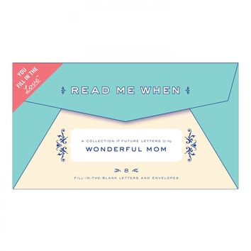 Letters to My Wonderful Mom Read Me When Box