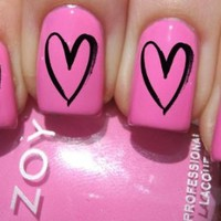 Heart Outline Nail Decals by YRNails