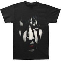 Marilyn Manson Men's  Striped Face 2013 Tour T-shirt Black