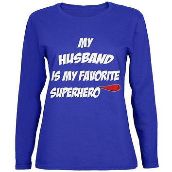 Husband is My Superhero Womens Long Sleeve T Shirt