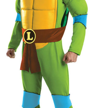 teenage mutant ninja turtles deluxe leonardo adult costume