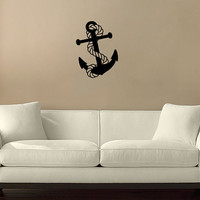 Anchor with Rope Vinyl Wall Decal