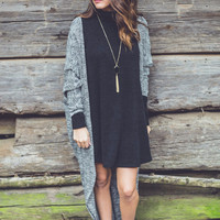 Dolman Sleeve Cardigan in Black and White