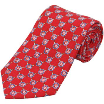 Vineyard Vines Chicago Cubs Mini Logo Silk Tie - Red