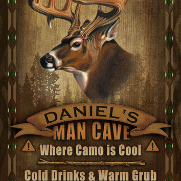 Deer Man Cave Personalized Print / Poster / Sign / Whitetail Deer