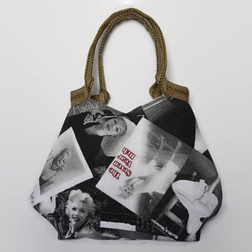 Stylish tote bag, Marilyn Monroe print, large handbag, striking shoulder bag, striking tote bag