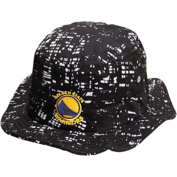 Mens Golden State Warriors adidas Black City Lights Bucket Hat