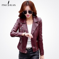 """Pinky"" Chic Leather Jacket"