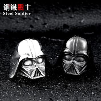steel soldier Star Wars Darth Vader mask shape ring High Quality 316L STAINLESS Steel men jewelry