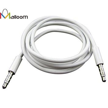 2017 New Arrival 4 Pole 1m 3.5mm Male Record Car Aux Audio Cord Headphone Connect Cable