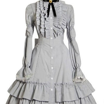 One Piece Long Sleeves Gothic Lolita Dresses costumes cosplay halloween Christmas Alternative Measures - Brides & Bridesmaids - Wedding, Bridal, Prom, Formal Gown