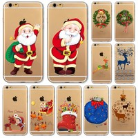 Christmas Cover For iPhone Soft Phone Case 6 6S 5 5S SE 6Plus 6SPlus