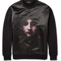 Givenchy Printed Satin and Jersey Sweatshirt | MR PORTER