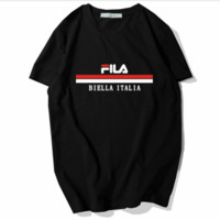 FILA Summer Lovers Men and Women Fashion Hipster Top T-Shirts black