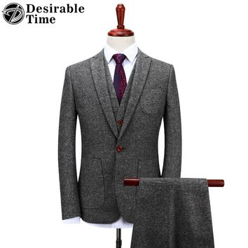 Slim Tweed Fashion Suit