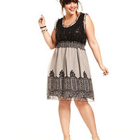American Rag Plus Size Dress, Sleeveless Sequin Lace