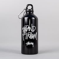 Stussy Stand Firm Water Bottle - Black at Ozzys