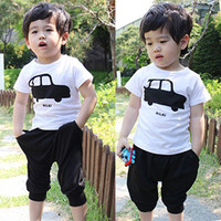 Casual T-shirt Black Short Set