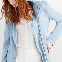 Hooded Chambray Parka Jacket