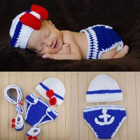 Newborn Photography Prop -  The Sailor