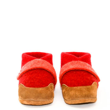 Eco-Friendly Classroom Slippers, Wool Baby Shoes
