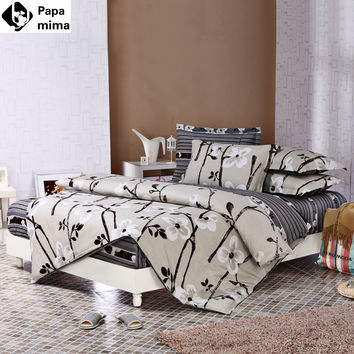 Bedding sets 6pcs duvet doona quilt fitted cover ned sheet 100% cotton for king queen full twin size bedclothes comforter linens