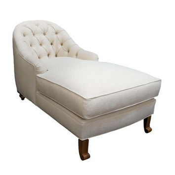 Deep Tufted Upholstered Chaise