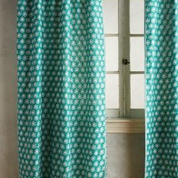 Embroidered Sari Silk Curtain by Anthropologie