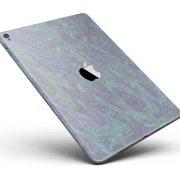 """Purple Slate Marble Surface V22 Full Body Skin for the iPad Pro (12.9"""" or 9.7"""" available)"""