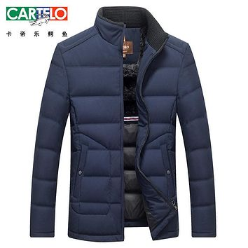 Cartelo/brand Down Jacket White Duck Fur collar Men Winter Autumn Warm Coat Fashion Thick Parka Jacket Coat For Male