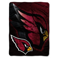 Arizona Cardinals NFL Micro Raschel Blanket (Bevel Series) (80x60)