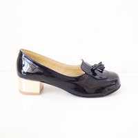 Patsy Faux Leather Low Heel Loafers