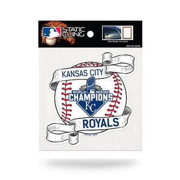 Licensed Kansas City Royals 2015 World Series Champs Static Cling Window Car Decal 890650 KO_19_1