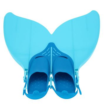 Teen Teenager Mermaid Swim Fin Diving Monofin Swimming Foot Flipper Diving Fins Scuba Snorkeling Shoes Diving Flippers