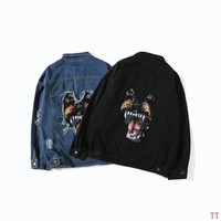 ONETOW Givenchy Fashion Denim Cardigan Jacket Coat