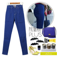 High Rise Hip Up Sexy Slim Pencil Pants Jeans [11597542991]