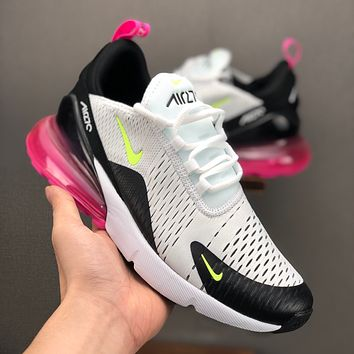 Nike Air Max 270 White Volt-Black-Laser Fuchsia Running Shoes - Best Deal Online