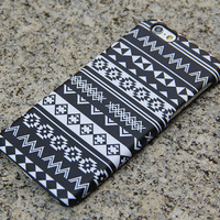Black White Tribal iPhone 6/6s Case iPhone 6/6s Plus Case iPhone 5c Galaxy S6 Edge Note 5 Case 024