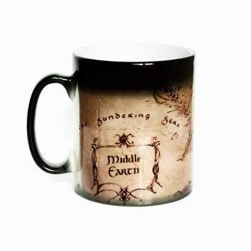 Middle Earth mugs The Lord Of The Rings Mugs,Hobbit coffee mug magic mug heat changing color cold hot sensitive ceramic Tea Cups