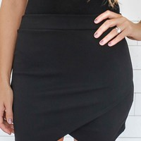 FLIRTING WITH FIRE MINI SKIRT - BLACK