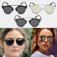 New Fashion Classic Vintage Women Cat Eye Retro Glasses Outdoor Metal Frame Sunglasses Shades Eyewear