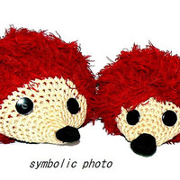 Couple of Crochet Amigurumi Hedgehog Family , handmade GIft