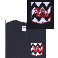 South Carolina Gamecock Embroidered Chevron Pocket Shirt