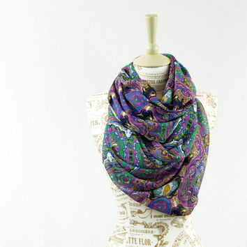 Multi Colored Chiffon Scarf Sari Long Wide Scarves Lightweight